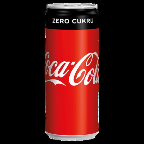 Coca Cola PLECH 0,33l ZERO
