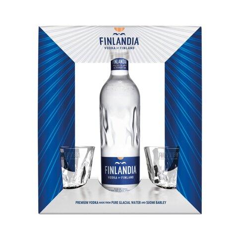 Finlandia 40% 0,7l + 2x sklo