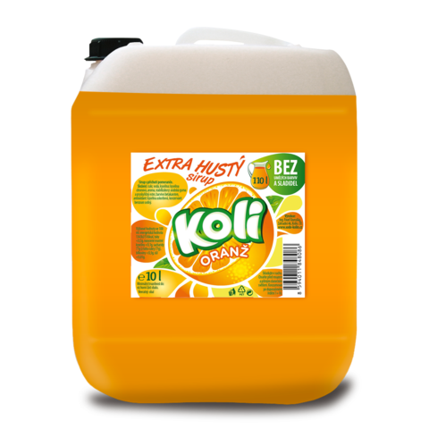 Koli Sirup Pomeranč 10,0l