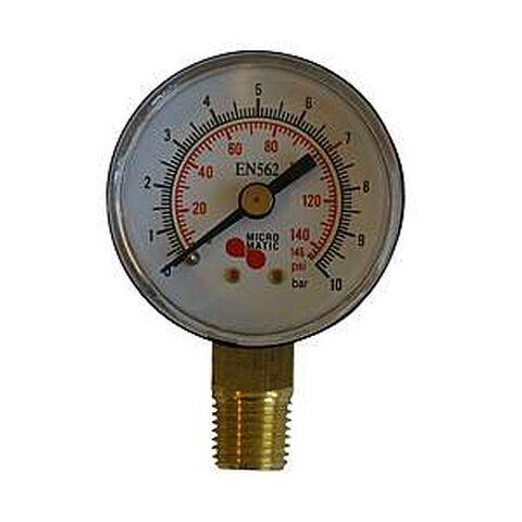 Red-Manometr, Prac. Tlak CO2,N2