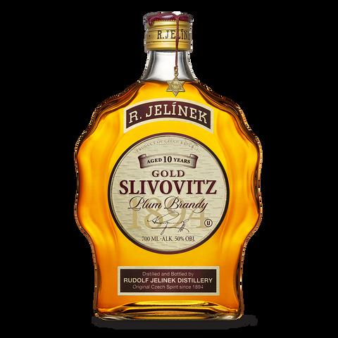 RJ Slivovice KOSHER Zlatá 50% 0,7l Budík