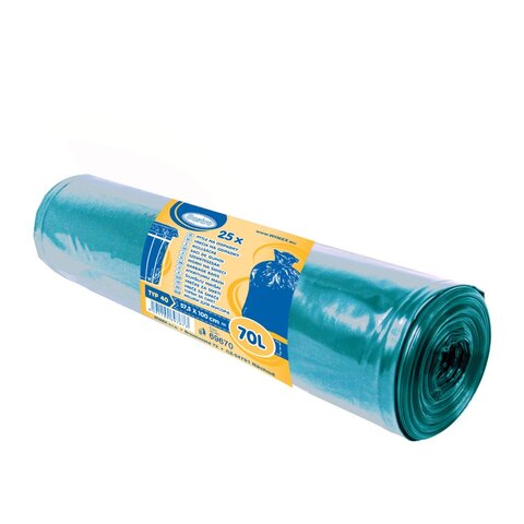 Pytle na Odpadky Modré 57,5x100cm, 70l, Typ 40 (25ks)