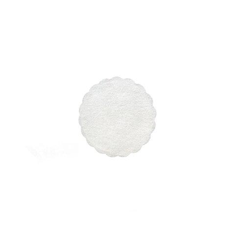 Rozetky PREMIUM 9cm Bílé (500ks)