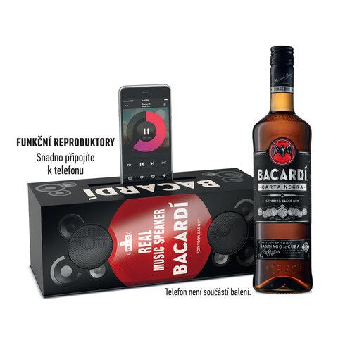 Rum Bacardi Carta NEGRA 40% 0,7l MUSICBOX