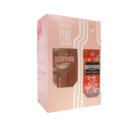 Gin Beefeater PINK 37,5% 0,7l+SKLO
