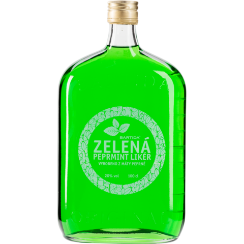 BARTIDA Zelená Peprmint likér 20% 1,0l
