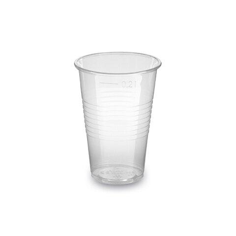 Kelímek 0,2l Průhledný Plast p.70mm (100ks)