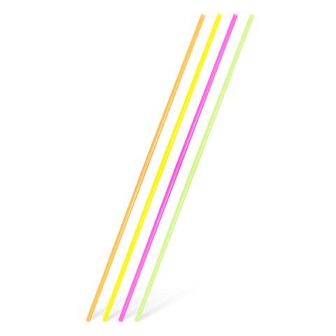 Slámky (brčka) Rovné XXL Neon 100cm (100ks)