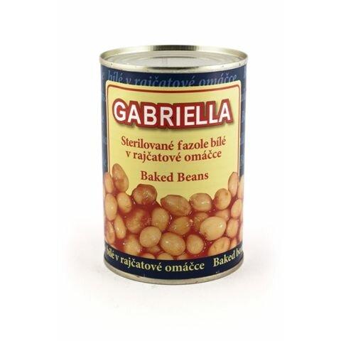 Fazole 400g Bílé v tomatě Gabriella PLECH