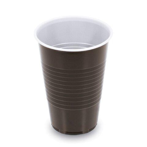 Kelímek 0,2l Kávový Hnědo-Bílý (100ks)