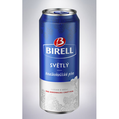 Birell Světlý PLECH 0,5l