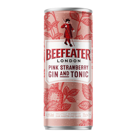 Gin Beefeater Pink & Tonic 4,9% 0,25l Plech