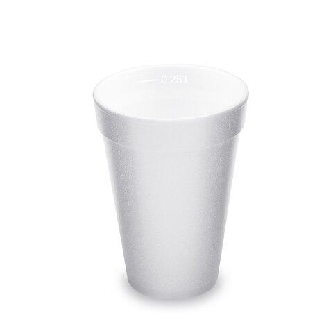 Kelímek Termo Bílý z pěn.PS 0,25l (80mm)(20ks)