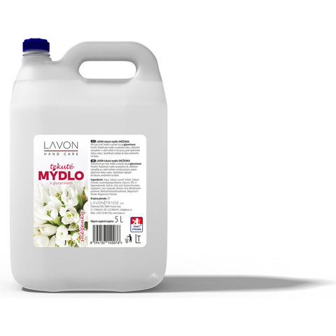 Mýdlo Tekuté Bílé Linteo/Lavon 5l