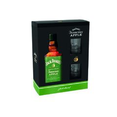 Jack Daniels Apple 35% 0,7l Dárková Kazeta + 2x Sklo