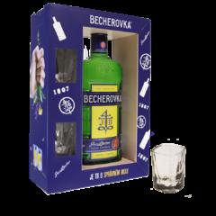 Becherovka 38% 0,7l GB + 2x sklo