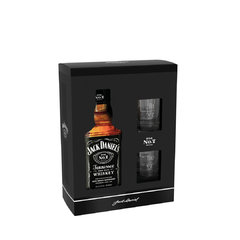 Jack Daniels 40% 0,7l Dárková Kazeta + 2x Sklo PAP