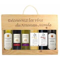 Malette Cap Monde 6x0,25l Wood Box
