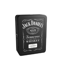 Jack Daniels 40% 0,7l Dárková Kazeta + 2x Sklo PLECH