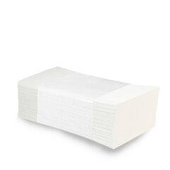 Ručníky Papírové Tissue Celulozové ZZ Bílé 2-vrstvé 200ks