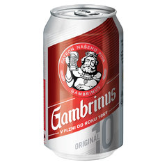 Gambrinus 10° PLECH 0,33l